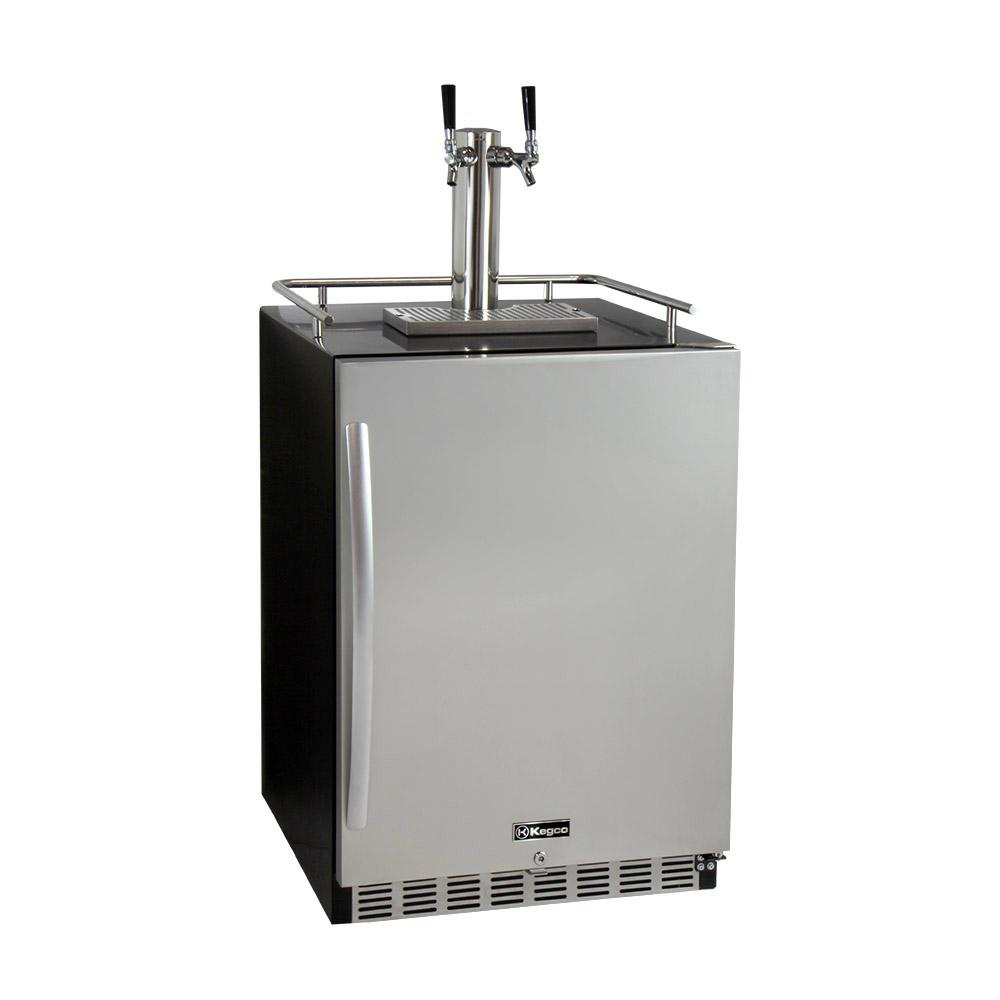 Digital Undercounter Full Size Beer Keg Dispenser with X-CLUSIVE Dual Tap