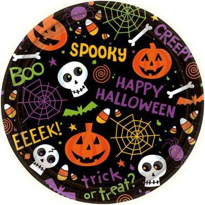 7 in. x 7 in. Spooktacular Round Paper Plate (60-Count)