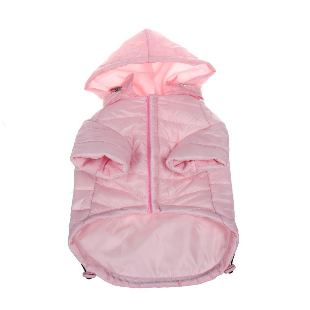 Small Light Pink Lightweight Adjustable Sporty Avalanche Dog Coat with Removable