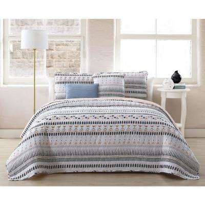 Prescott 5-Piece White King Quilt Set