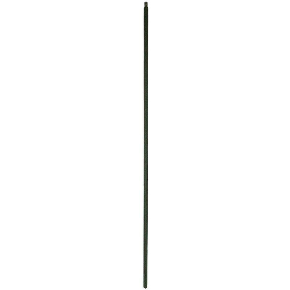 null 44 in. x 0.5 in. Satin Black Plain Shaft Metal Baluster