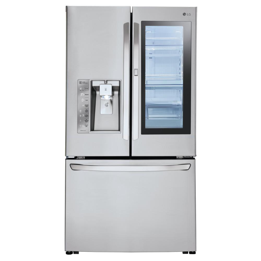 Lg electronics 30 cu ft 3 door french door smart refrigerator 3 door french door smart refrigerator with instaview door rubansaba