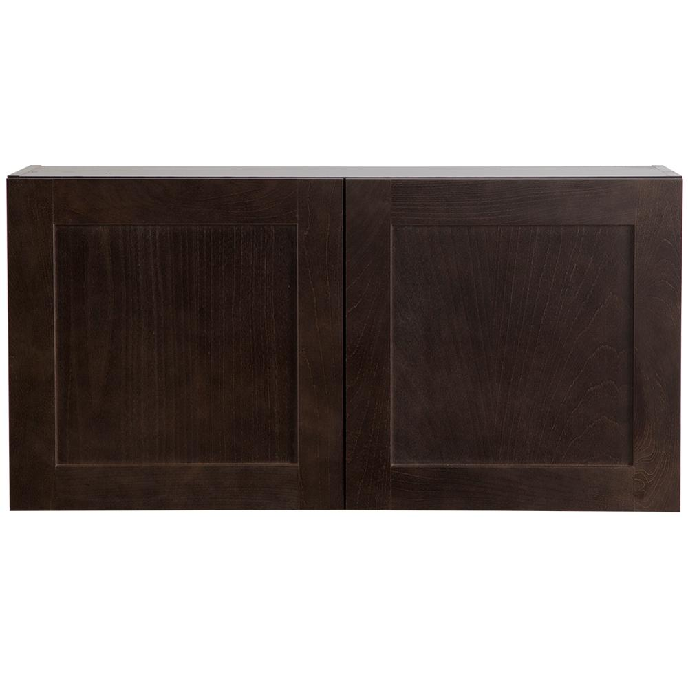 Cabinet Corp Dusk Kitchen: Hampton Bay Cambridge Assembled 36x18x12.6 In. Wall