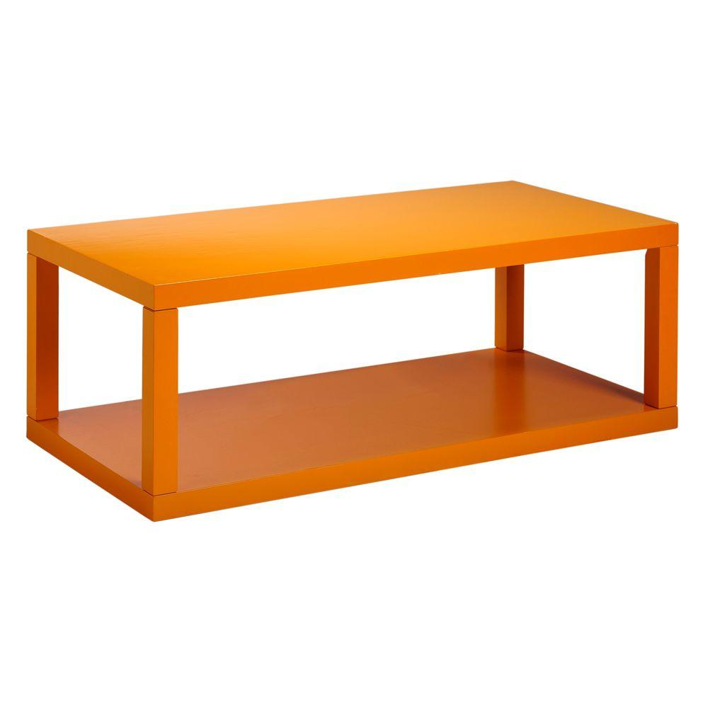 Home Decorators Collection 48 in. W Parsons Orange Coffee Table