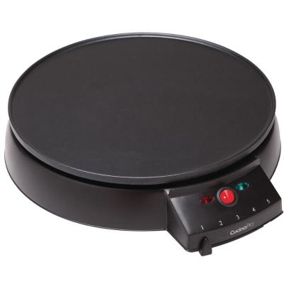 110 sq. in. Black Non-Stick Electric Griddle Crepe Maker