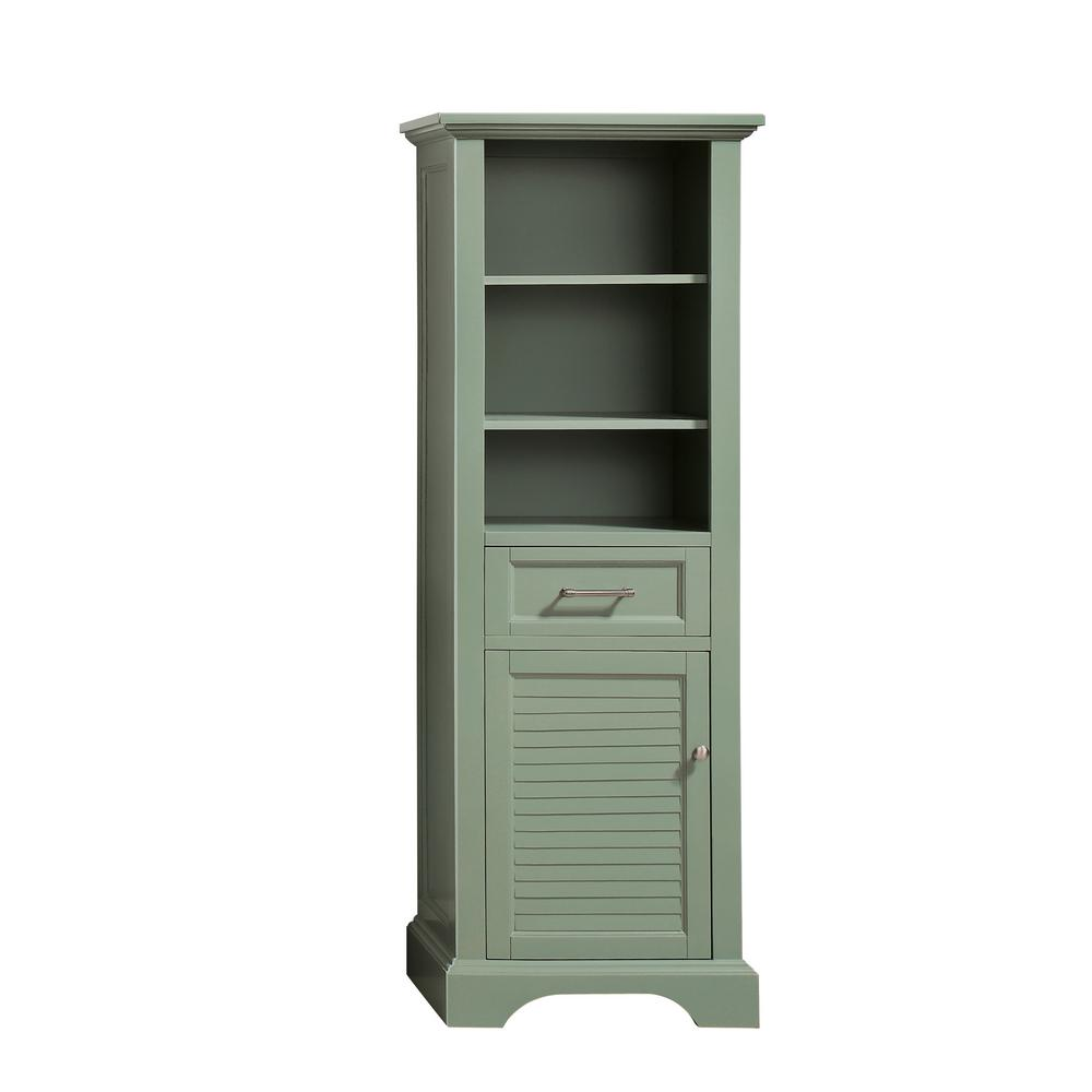 Avanity Colton 22 in. W x 16 in. D x 65 in. H Floor Cabinet in. Basil Green Finish