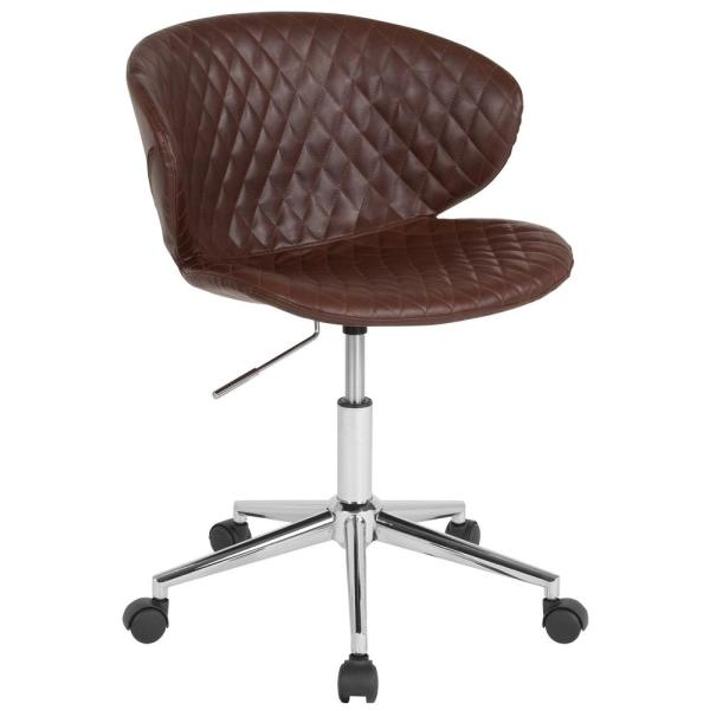 Flash Furniture Brown Vinyl Office/Desk Chair CGA-LF-232215-BR-HD