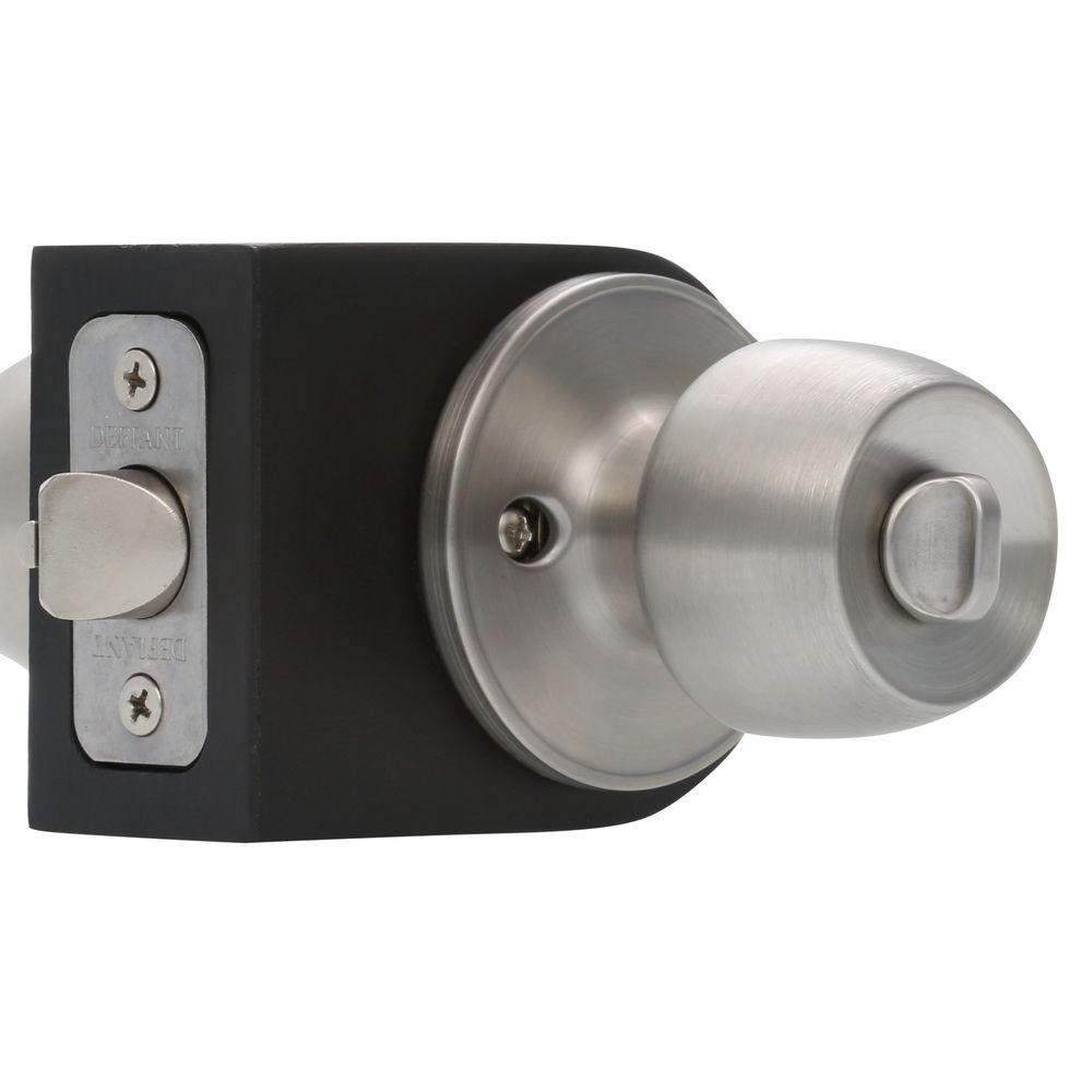 Defiant Brandywine Stainless Steel Entry Door Knob T8600 The Home Depot