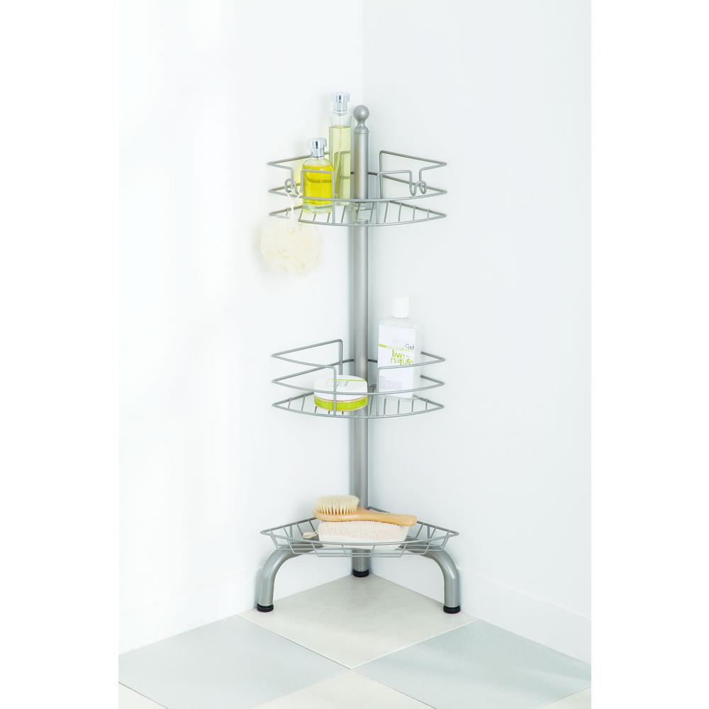 Glacier Bay Over The Shower Door Caddy In Satin Chrome