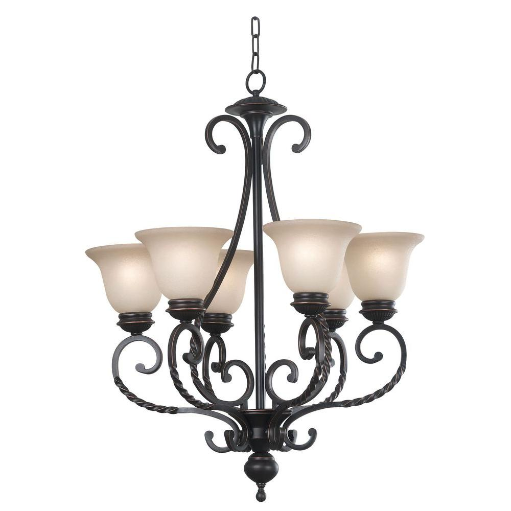 Kenroy home oliver 6 light oil rubbed bronze chandelier with amber kenroy home oliver 6 light oil rubbed bronze chandelier with amber glass shade arubaitofo Choice Image