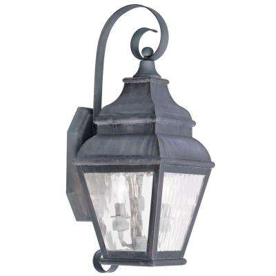 Providence Wall-Mount 2-Light Charcoal Outdoor Incandescent Lantern