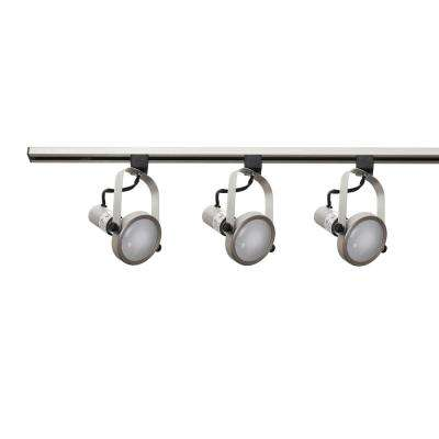 5 brushed nickel track lighting kits track lighting the home 3 light nickel track lighting kit aloadofball Image collections