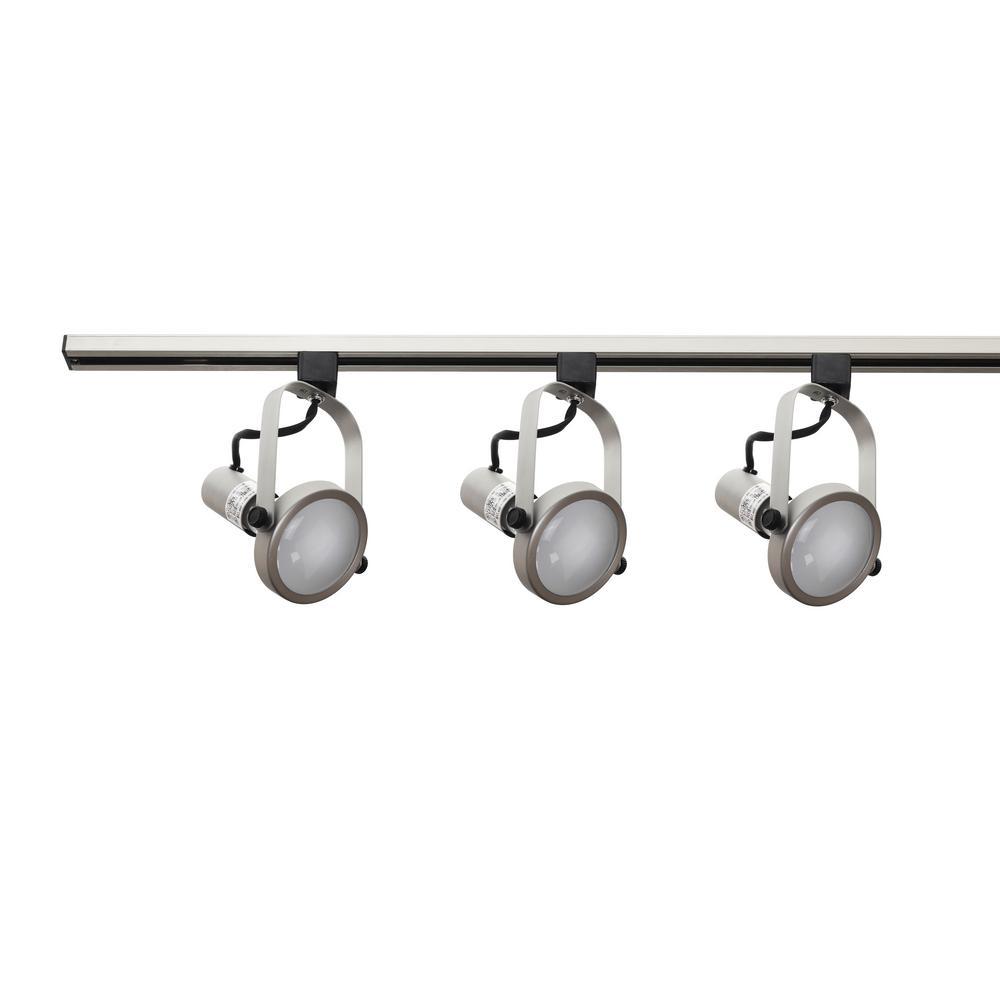 4 ft. 3-Light Nickel Track Lighting Kit