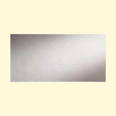 Diamond Plate 96 in. x 48 in. Vinyl Decorative Wall Panel in Matte White