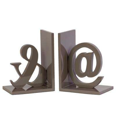 7.75 in. H Alphabet Decorative Sculpture in Taupe Coated Finish