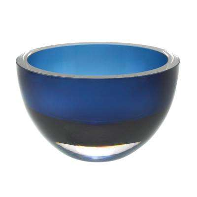Penelope 6 in. Midnight Blue Mouth Blown European Lead Free Crystal Bowl