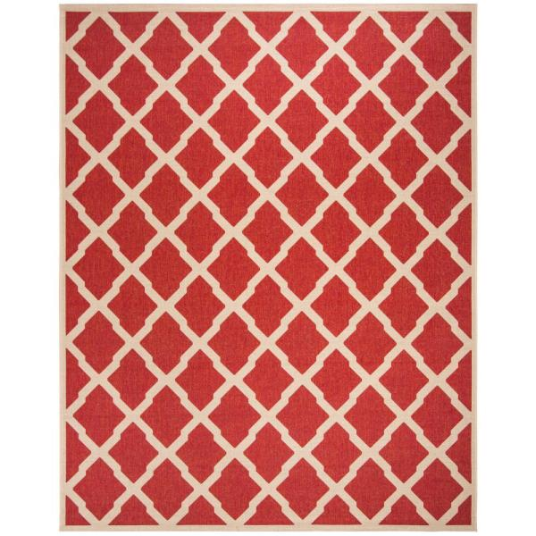 Safavieh Linden Red Cream 9 Ft X 12 Ft Area Rug Lnd122q 9 The Home Depot