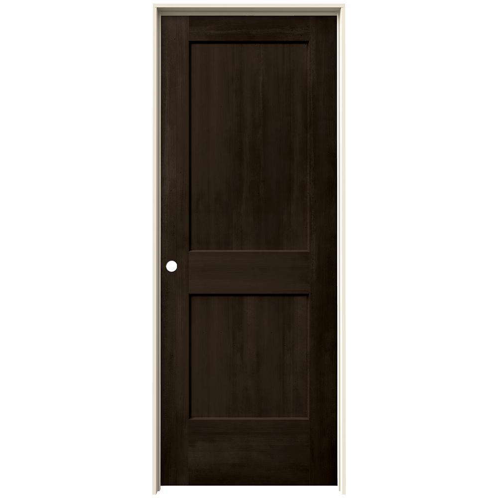 32 in. x 80 in. Monroe Espresso Stain Right-Hand Molded Composite MDF Single Prehung Interior Door