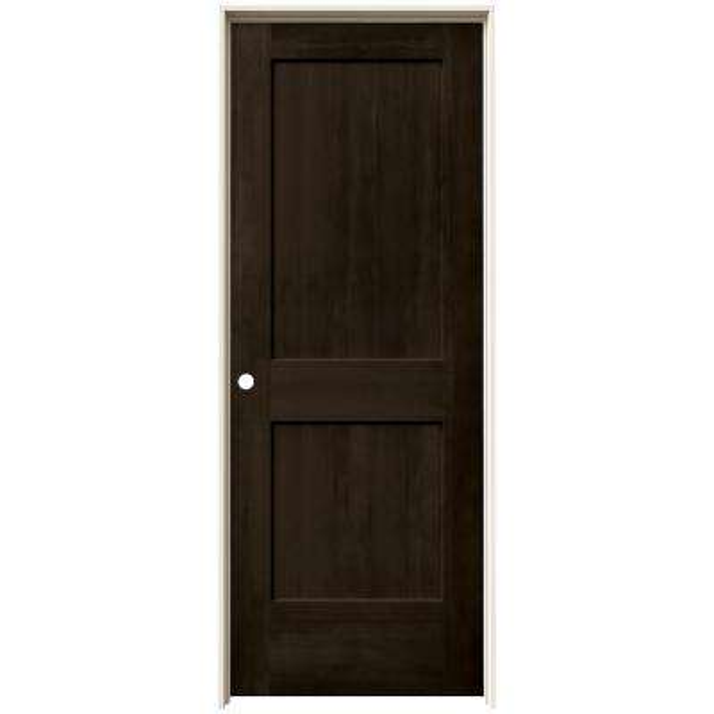 24 in. x 80 in. Monroe Espresso Stain Right-Hand Solid Core Molded Composite MDF Single Prehung Interior Door