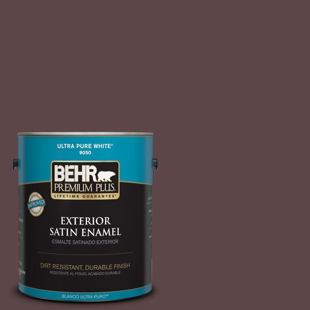 1-gal. #BNC-31 Mahogany Spice Satin Enamel Exterior Paint