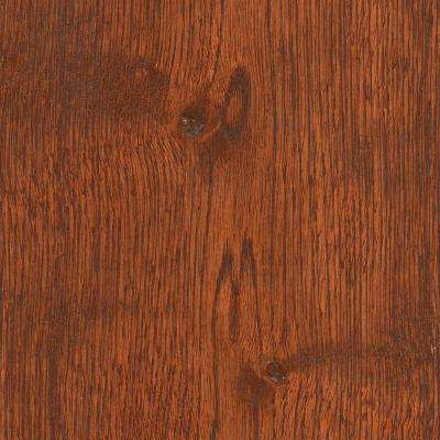 Wire Brushed Gunstock Oak 3/8 in. T x 7-1/2 in. Wide x Varying Length Click Lock Hardwood Flooring(30.92 sq.ft. / case)
