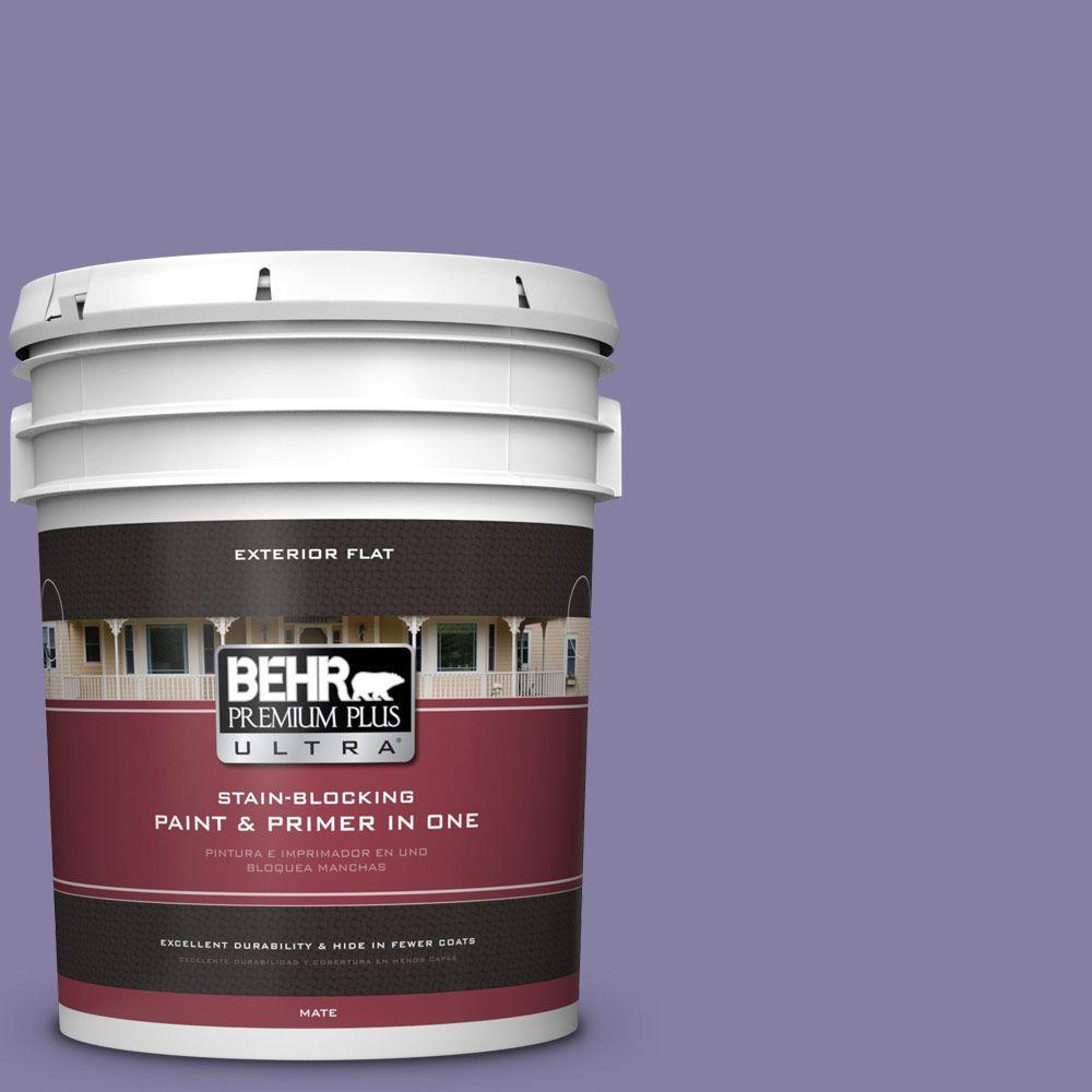 BEHR Premium Plus Ultra 5-gal. #640D-6 Chinese Violet Flat Exterior Paint