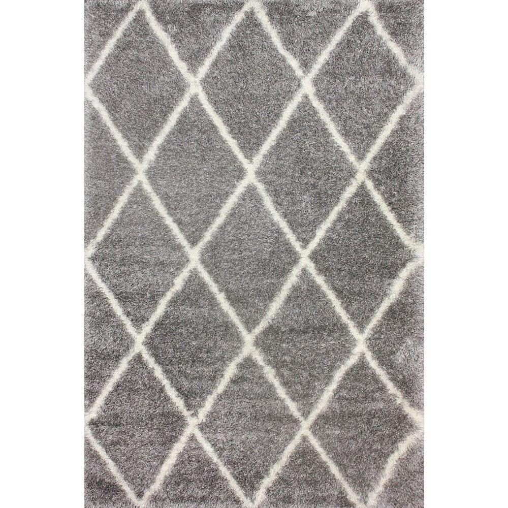 Nuloom Diamond Shag Ash 7 Ft X 9 Ft Area Rug Ozsg09f 6709 The