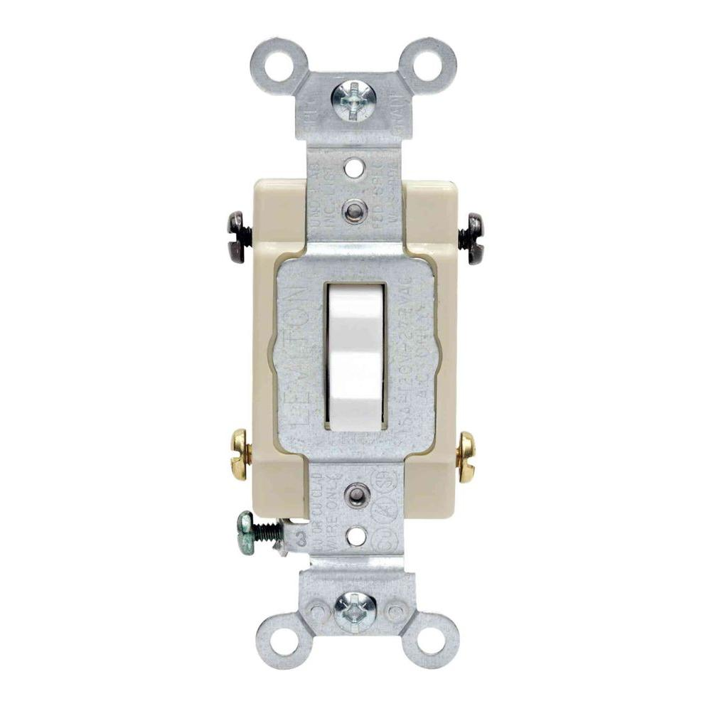Leviton Decora Plus 20 Amp Switch White R52 05621 2ws The Home Depot Single Light Wiring 4 Way Preferred Toggle