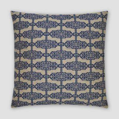 Catalonia Denim Feather Down 18 in. x 18 in. Standard Decorative Throw Pillow