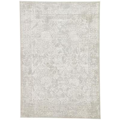 Machine Made Flint Gray 9 ft. x 12 ft. Abstract Area Rug