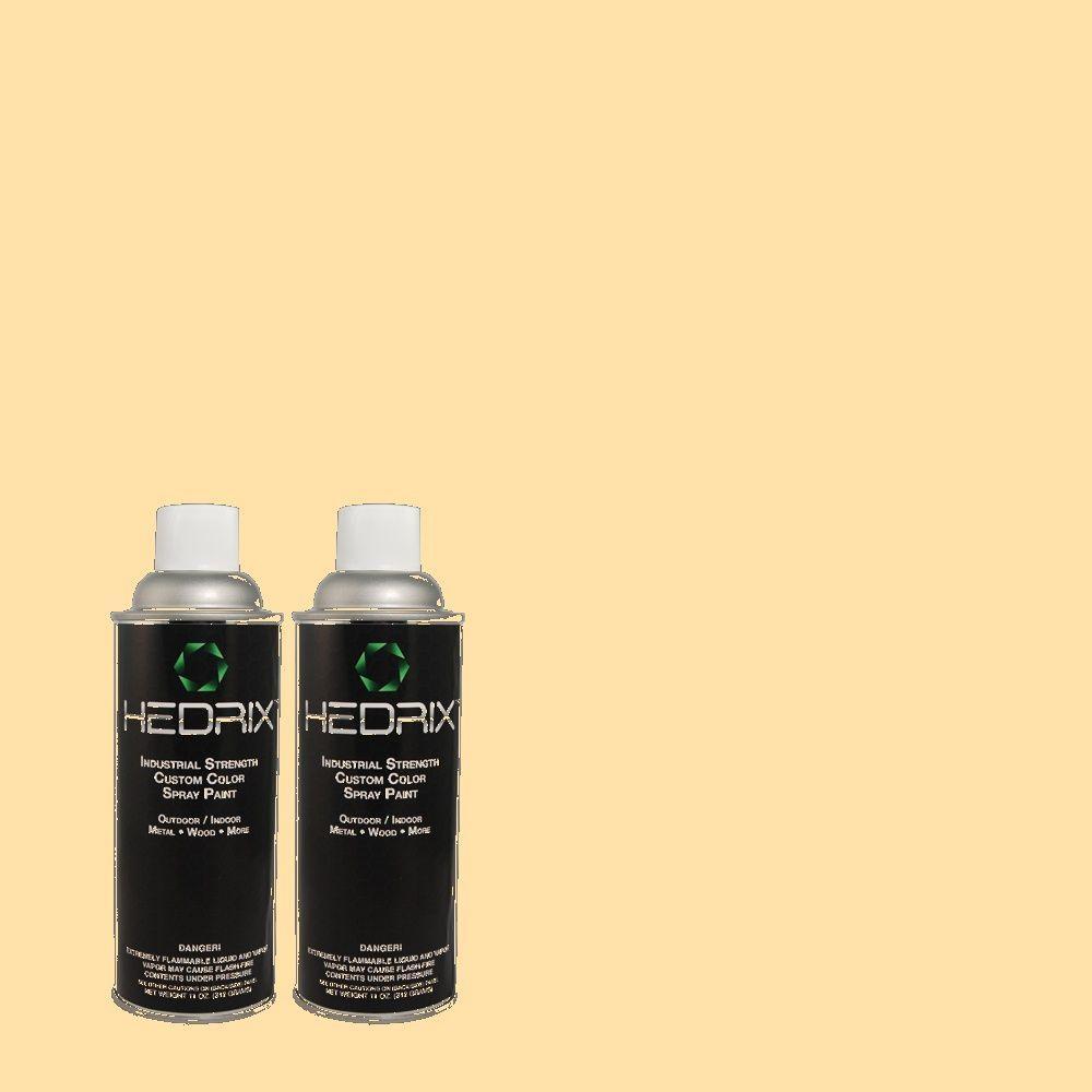 Hedrix 11 oz. Match of 1B13-1 Melon Seed Gloss Custom Spray Paint (2-Pack)
