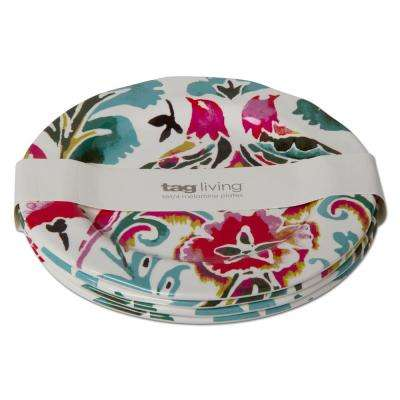 Eden Multicolor Melamine Salad Plate (Set of 4)