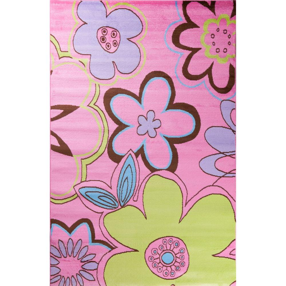Concord Global Trading Alisa Groovy Flowers Pink 5 Ft. X 7