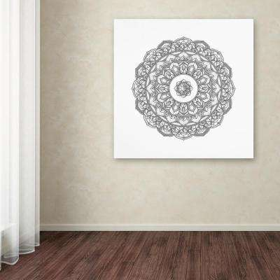 "14 in. x 14 in. ""Jewel Mandala"" by Filippo Cardu Printed Canvas Wall Art"