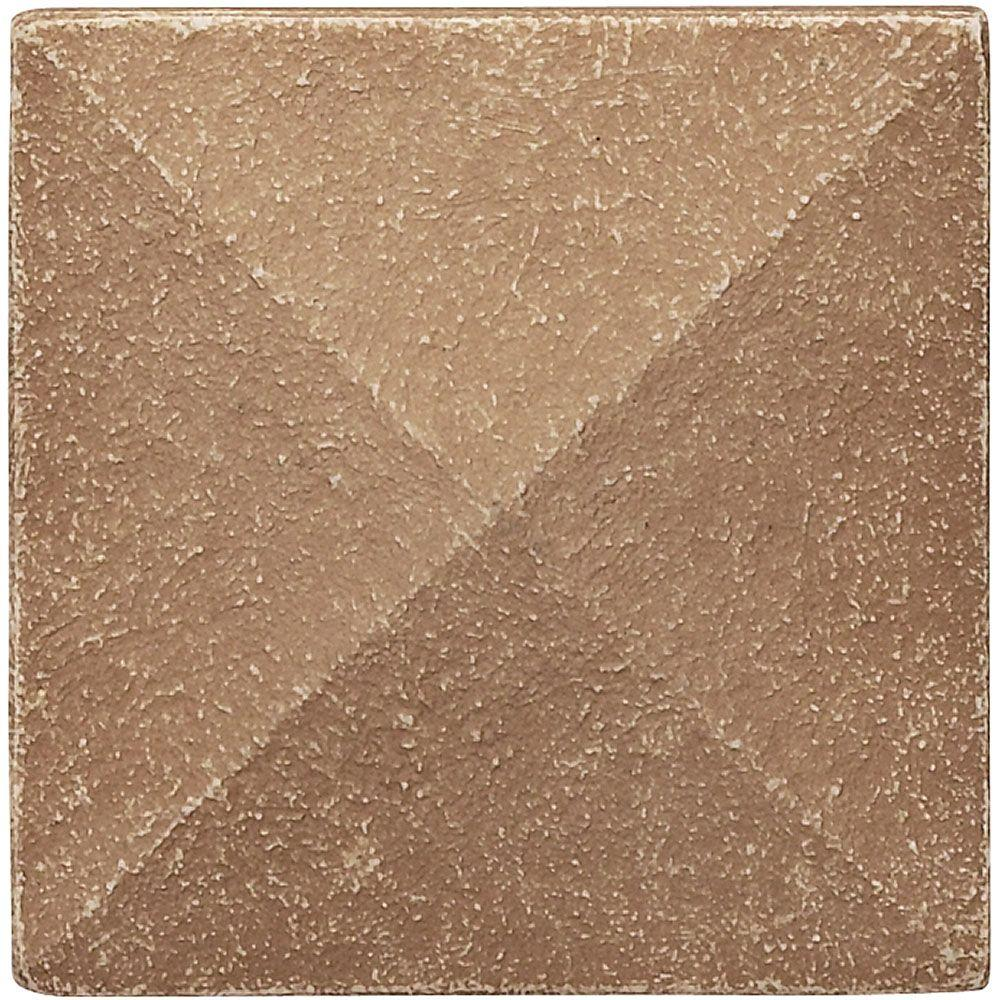 Weybridge 2 in x 2 in. Cast Stone Pyramid Dot Noche Tile (10 pieces / case)