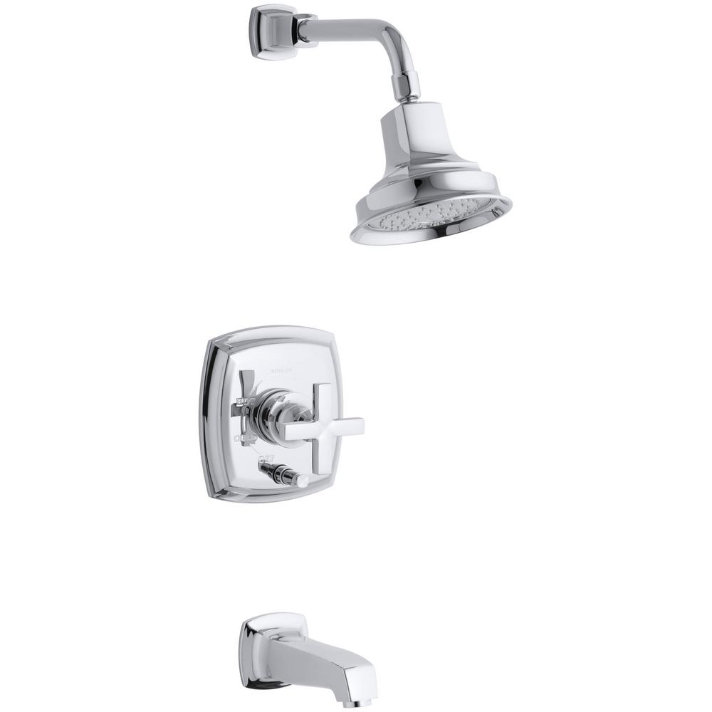KOHLER Margaux Bath and Shower Faucet Trim with Cross Handle in ...