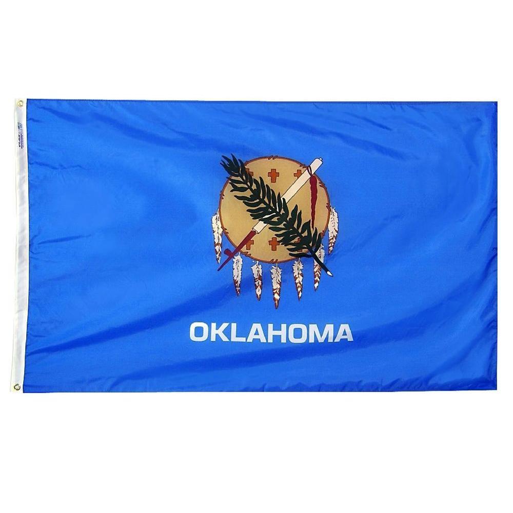 2 ft. x 3 ft. Nylon Oklahoma State Flag