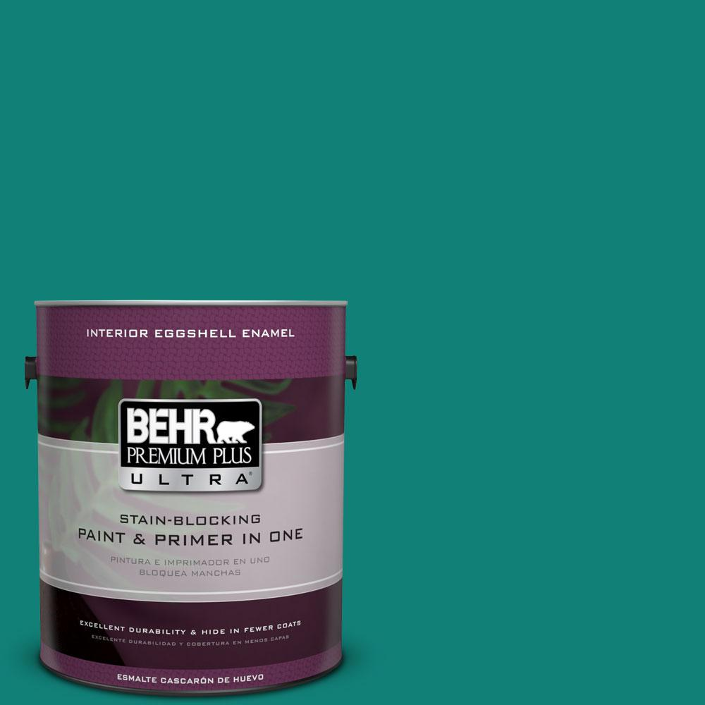 BEHR Premium Plus Ultra Home Decorators Collection 1-gal. #HDC-WR14-9 Green Garlands Eggshell Enamel Interior Paint