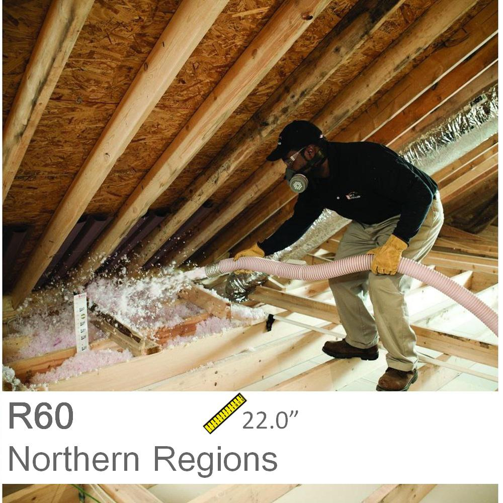 Blow in insulation insulation the home depot installed r 60 fiberglass blown in attic insulation solutioingenieria Choice Image