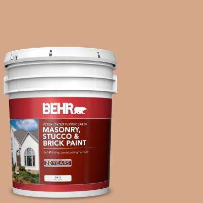 5 gal. #PPU3-11 Autumn Air Satin Interior/Exterior Masonry, Stucco and Brick Paint