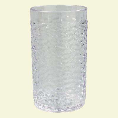 9.5 oz. SAN Plastic Pebble Optic Tumbler in Clear (Case of 24)