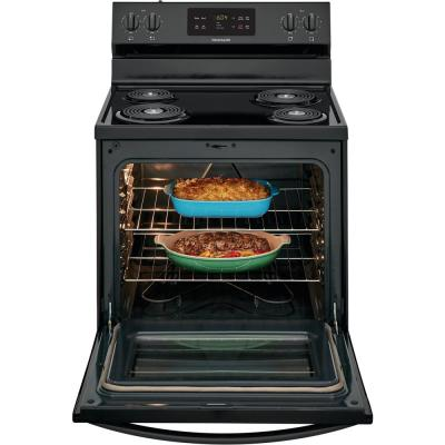 30 in. 5.3 cu. ft. Electric Range with Self Clean in Black