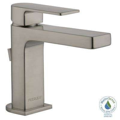 Xander 4 in. Centerset Single-Handle Bathroom Faucet with Metal Pop-Up Assembly in Brushed Nickel