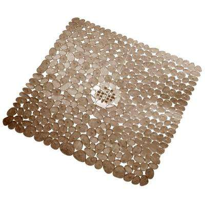 Pebblz 22 in. x 22 in. Square Bath Mat in Amber