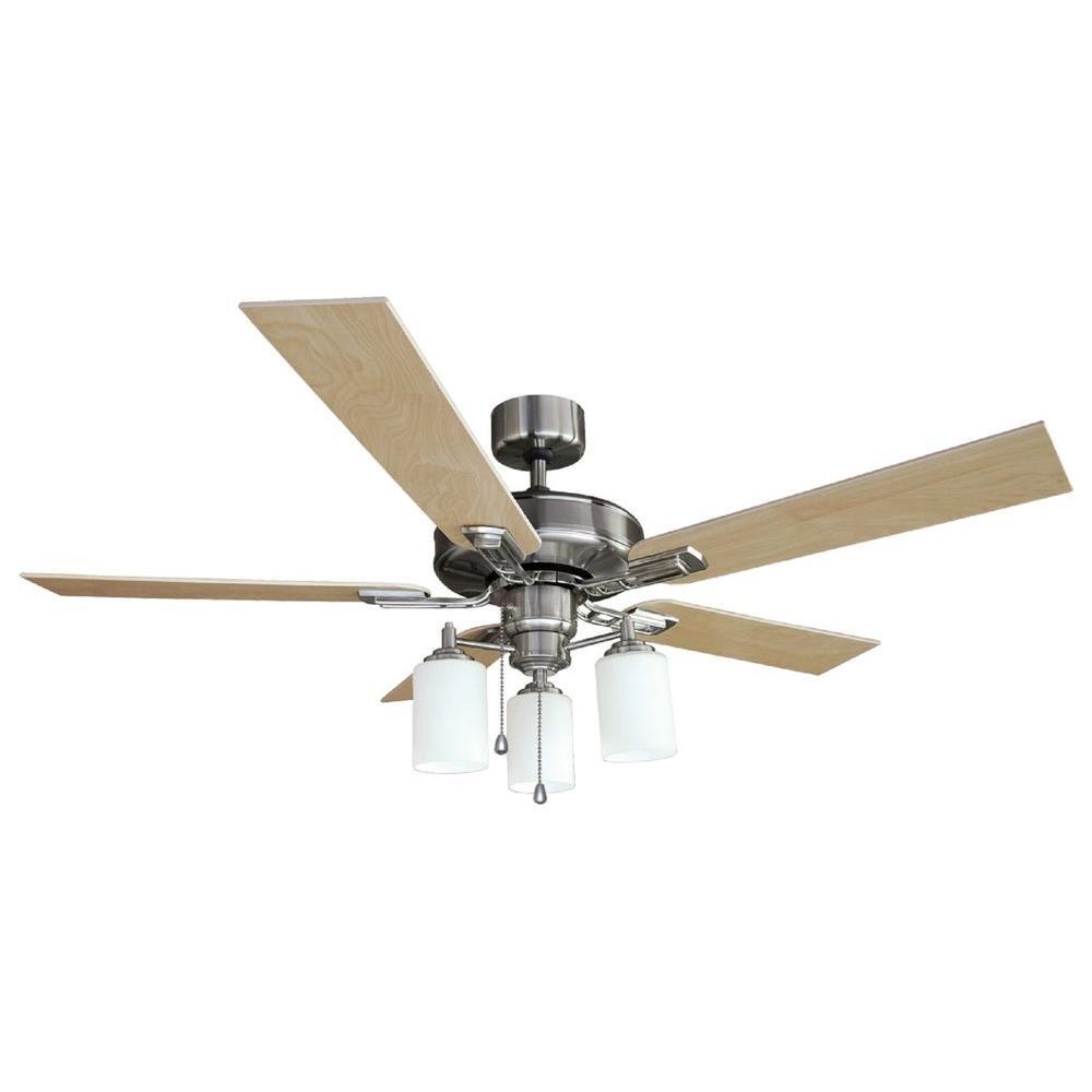 Aubrey 52 in. Satin Nickel Ceiling Fan