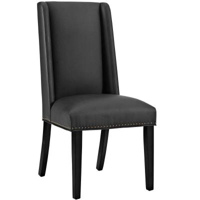 Baron Black Vinyl Dining Chair