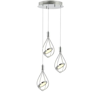 Orion 11.5 in. Integrated LED Chrome Adjustable Modern Metal Pendant