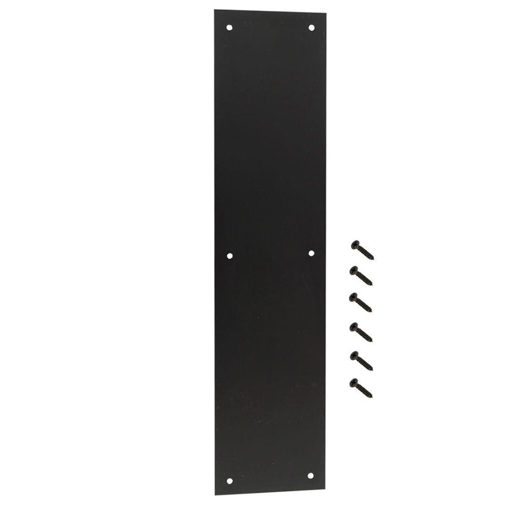 3-1/2 in. x 15 in. Oil-Rubbed Bronze Push Plate