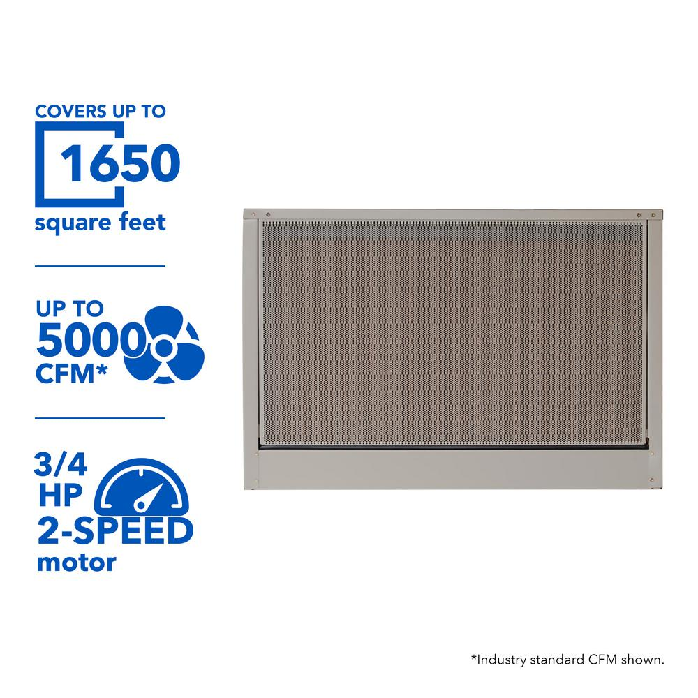 MasterCool 5000 CFM 115-Volt 2-Speed Down-Draft Roof 12 in.
