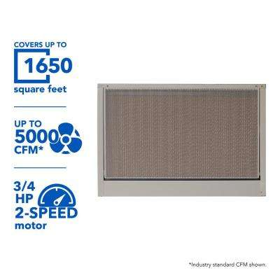 5000 CFM 115-Volt 2-Speed Down-Draft Roof 12 in. Media Evaporative Cooler for 1650 sq. ft. (with Motor)